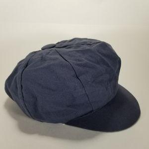 Vintage 70's Cotton Linen Paperboy Newsboy Cabbie Gatsy Painter Hat